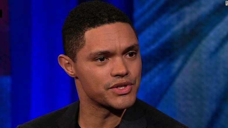 Trevor Noah, host of The Daily Show, speaks during a CNN town hall on March 8, 2017.