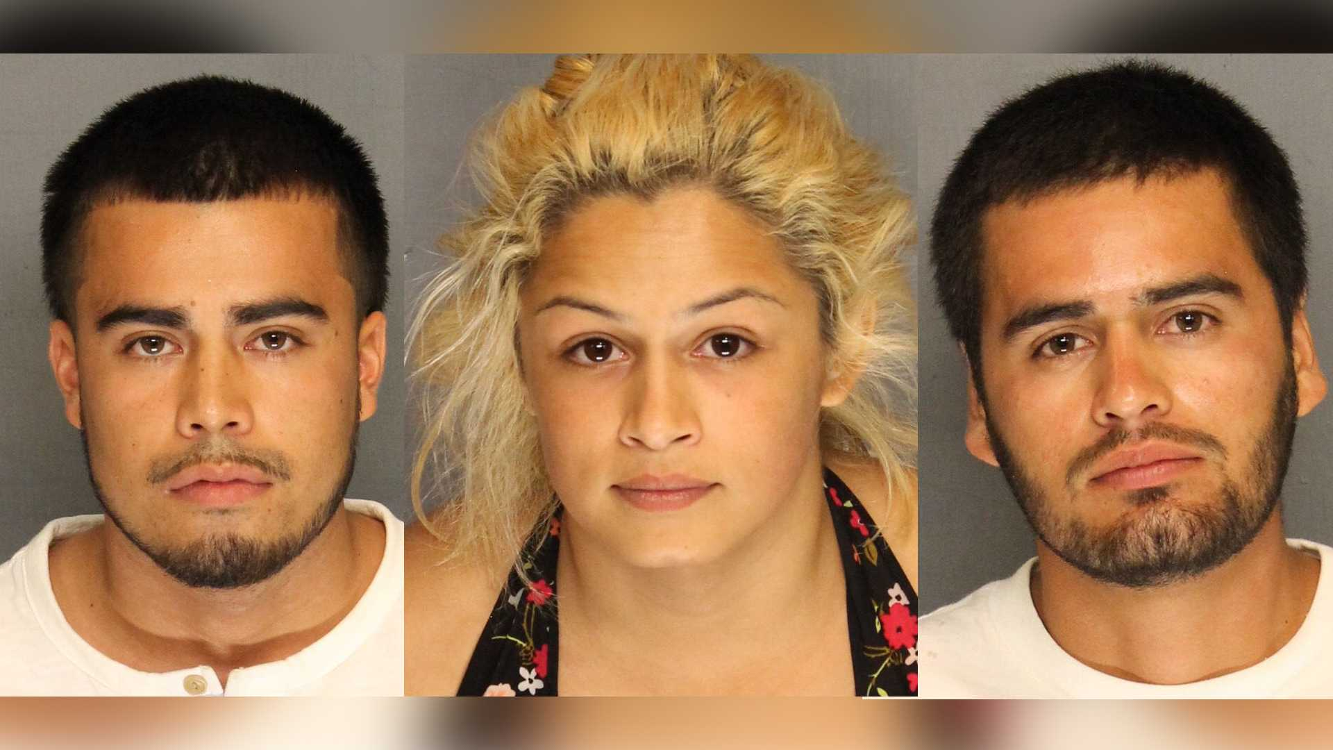 Carlos Hernandez, 20, Angie Torres, 22, and Juan Lopez, 22, were taken into custody Wednesday, June 29, 2017, in connection to a double homicide, the Stockton Police Department said.
