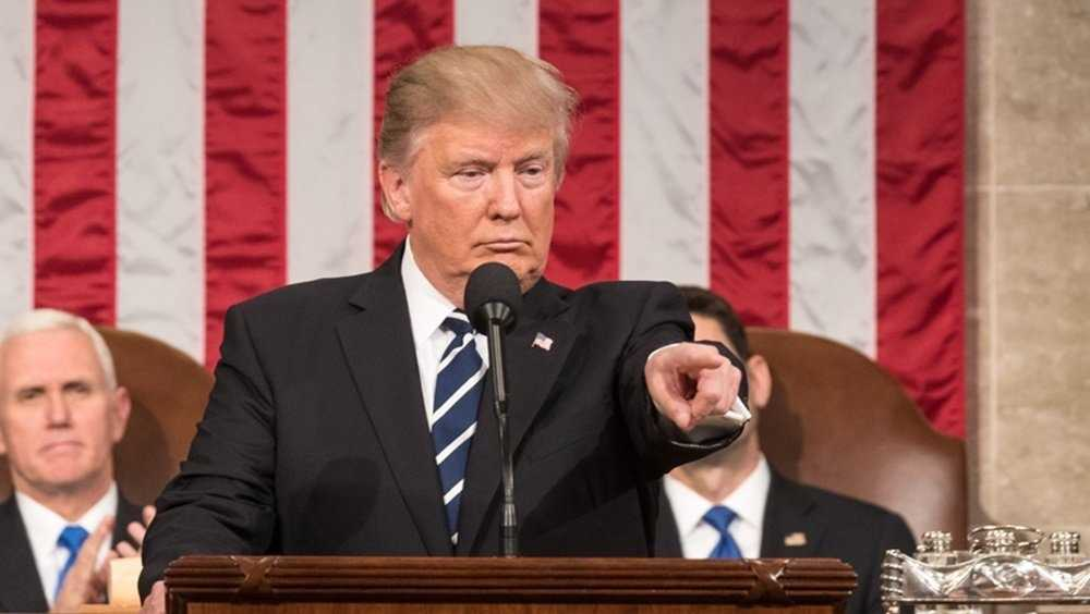 President Donald Trump addresses a joint session of Congress on February  28th, 2017.