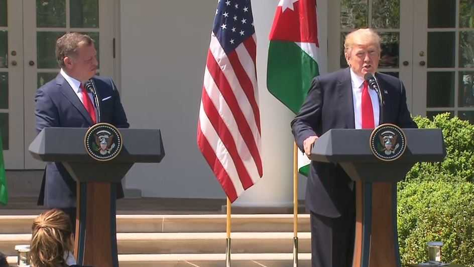 President Trump and King Abdullah