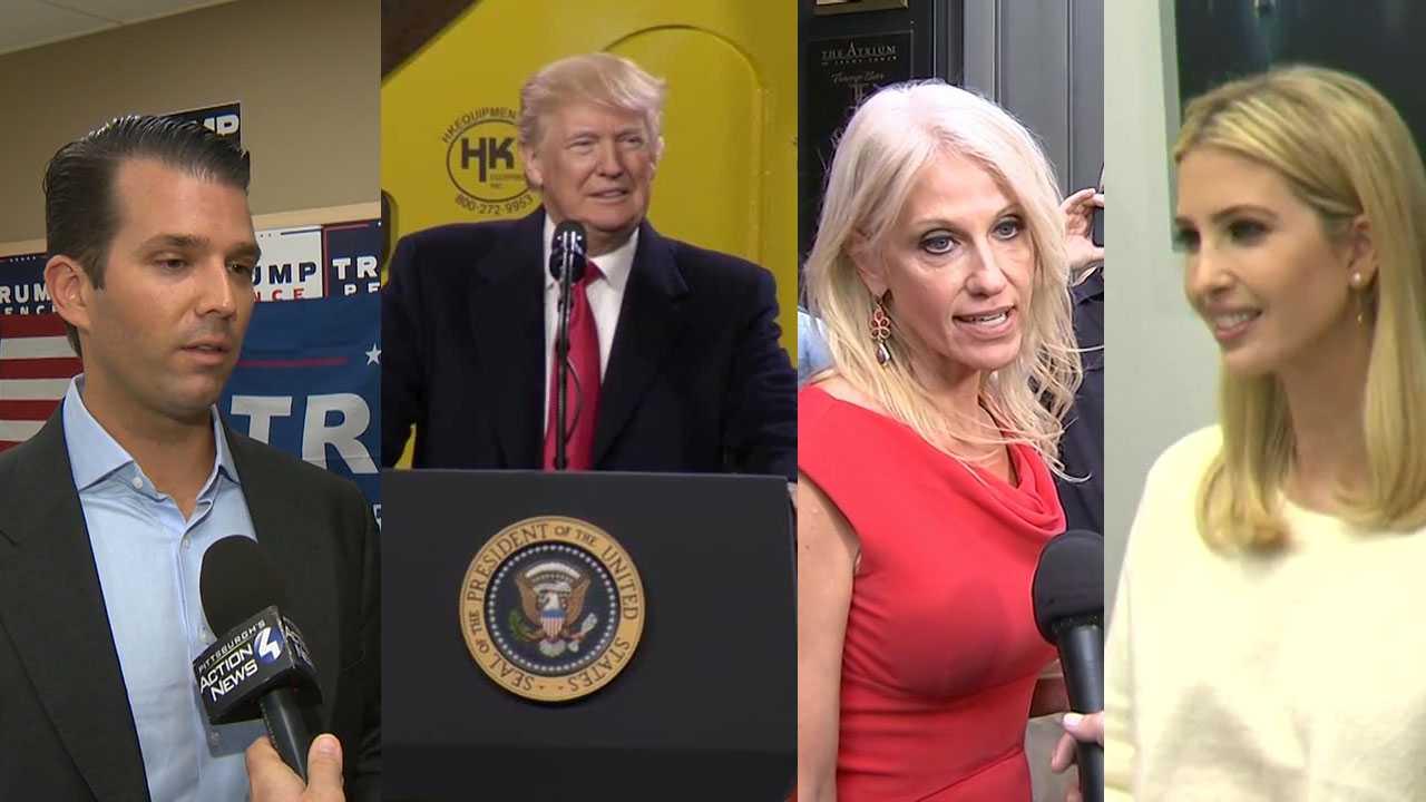 Donald Trump Jr., President Trump, Kellyanne Conway, Ivanka Trump