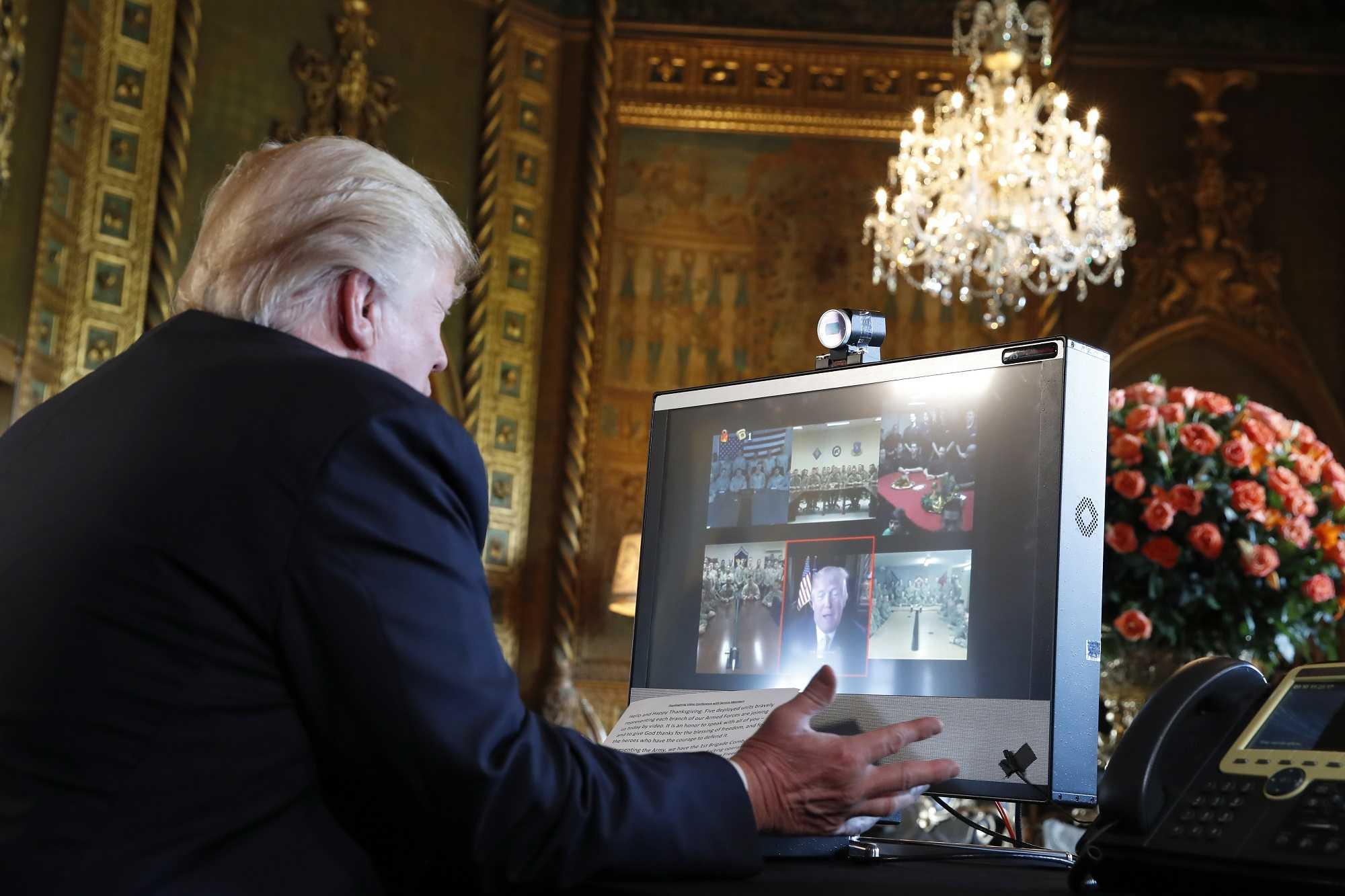 President Trump tells military 'We're really winning'