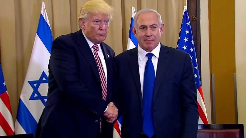 President Donald Trump with Israeli Prime Minister Benjamin Netanyahu.