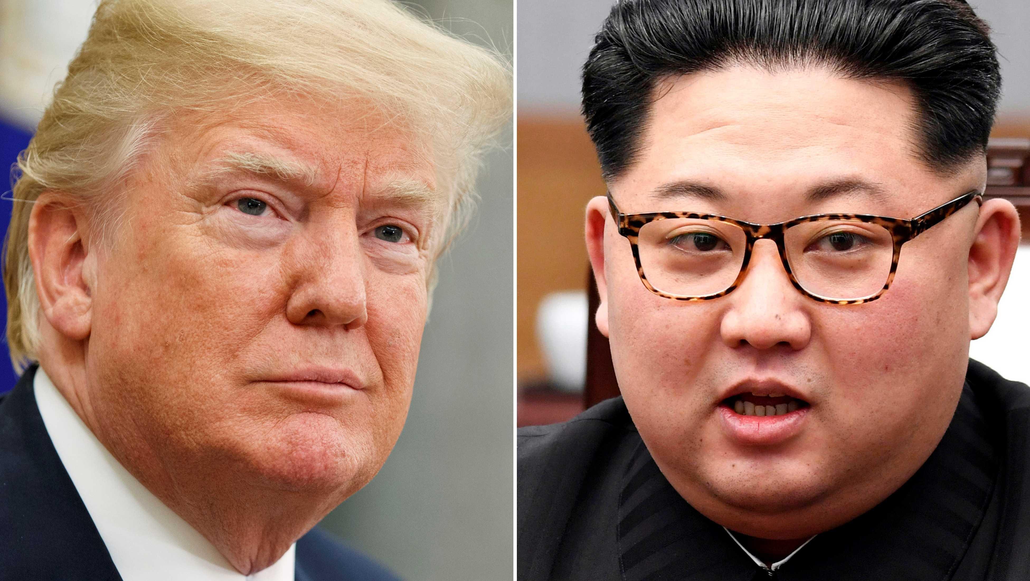 U.S. President Donald Trump (left)and North Korean leader Kim Jong Un (right).