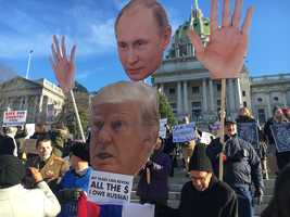 Trump protesters in Harrisburg