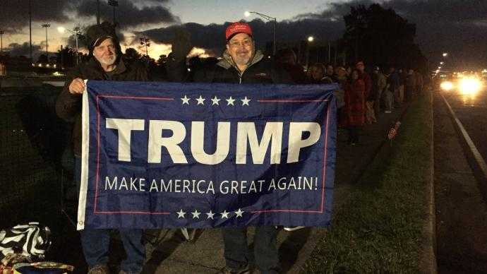 Lines already forming in Richmond ahead of President Trump rally