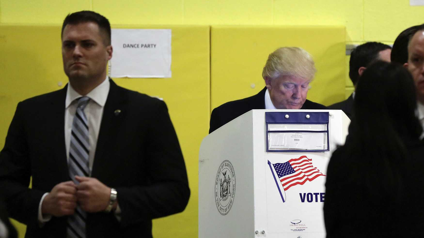 Donald Trump votes in New York on Nov. 8, 2016.