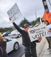 Trump protest in Monterey