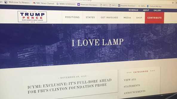 Trump website bug