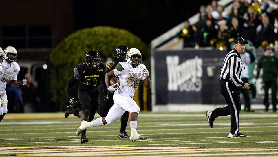 Spencer Brown ran for 209 yards and a touchdown against Southern Miss, and he now owns the school's single-season freshman rushing record.