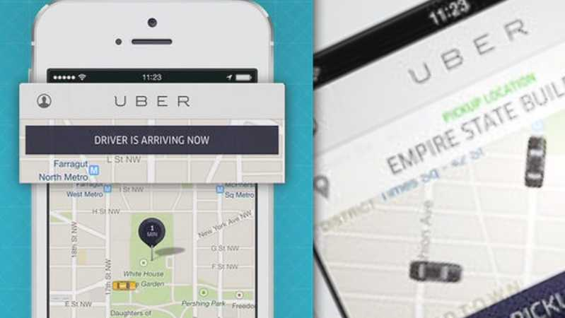 Uber ride-service app