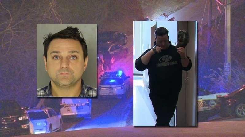 Uber driver Michael Nash said Derek Vasos (left) fired a gun from his car in Carrick.
