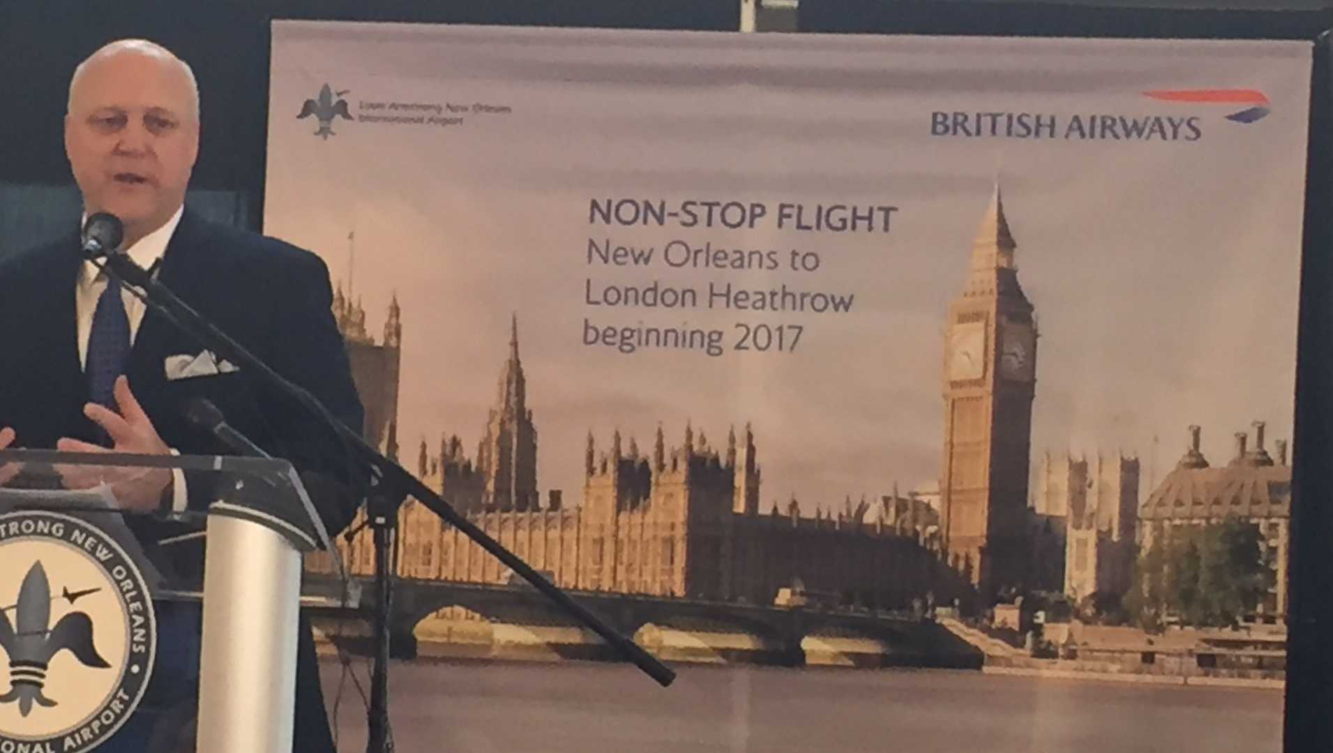 Non-stop flights to London announced