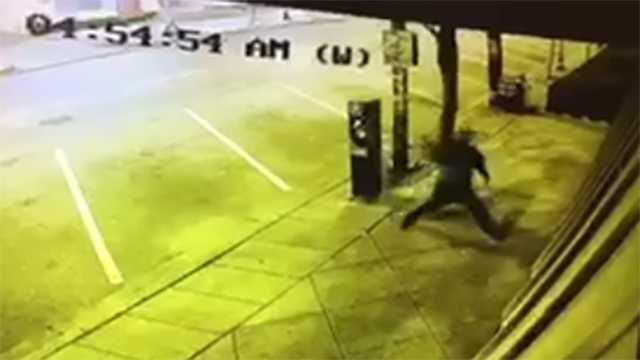Frazier's burglary surveillance image