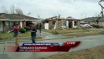 Tornado near New Orleans