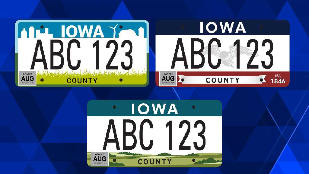 Voting open for Iowa license plate redesign