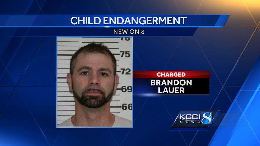 Perry resident Brandon Lauer, 34, has been charged with felony child endangerment, officers said.