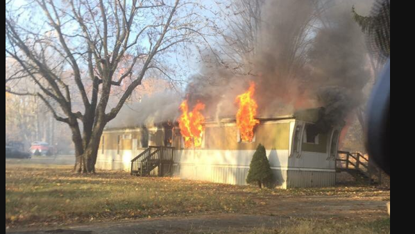 A mobile home fire in Abingdon Sunday morning sent two people to the hospital.