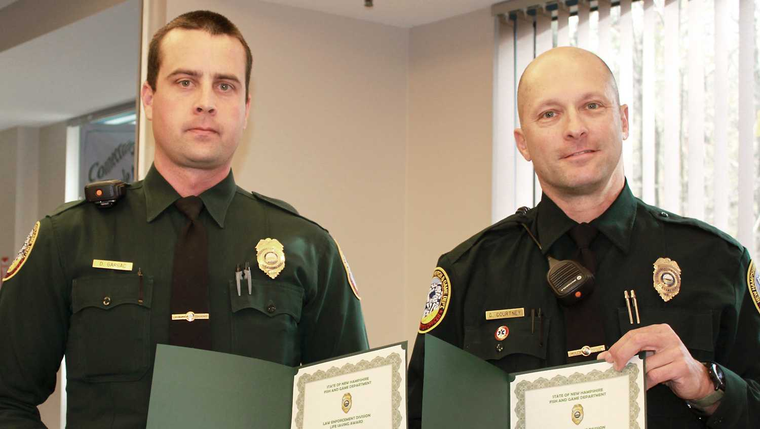 Left: Officer Dale Gargac, Right: Officer Graham Courtney