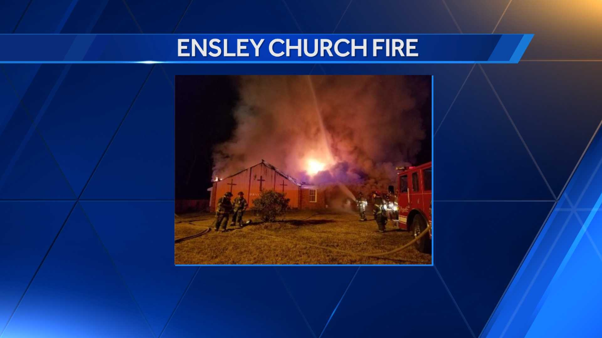Fire crews battle flames at the Broken Vessel Church in Birmingham.