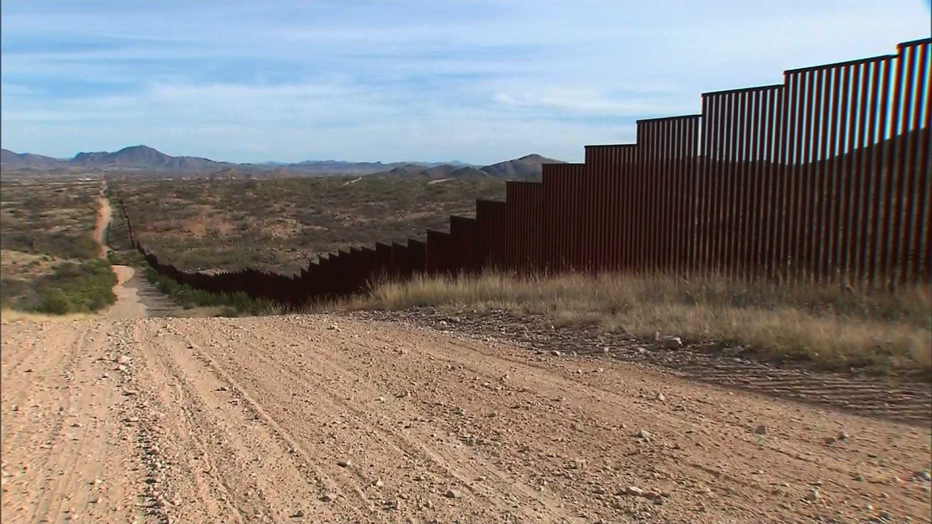 The fence along the southern border of the United States where it meets Mexico.