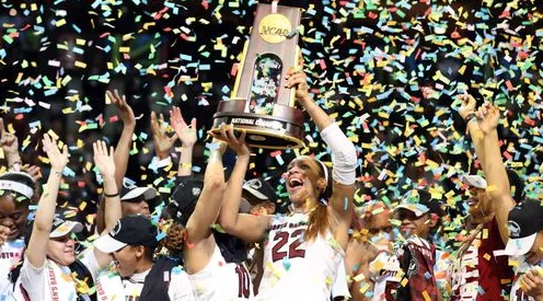 South Carolina wins 1st national title, beats Miss St 67-55