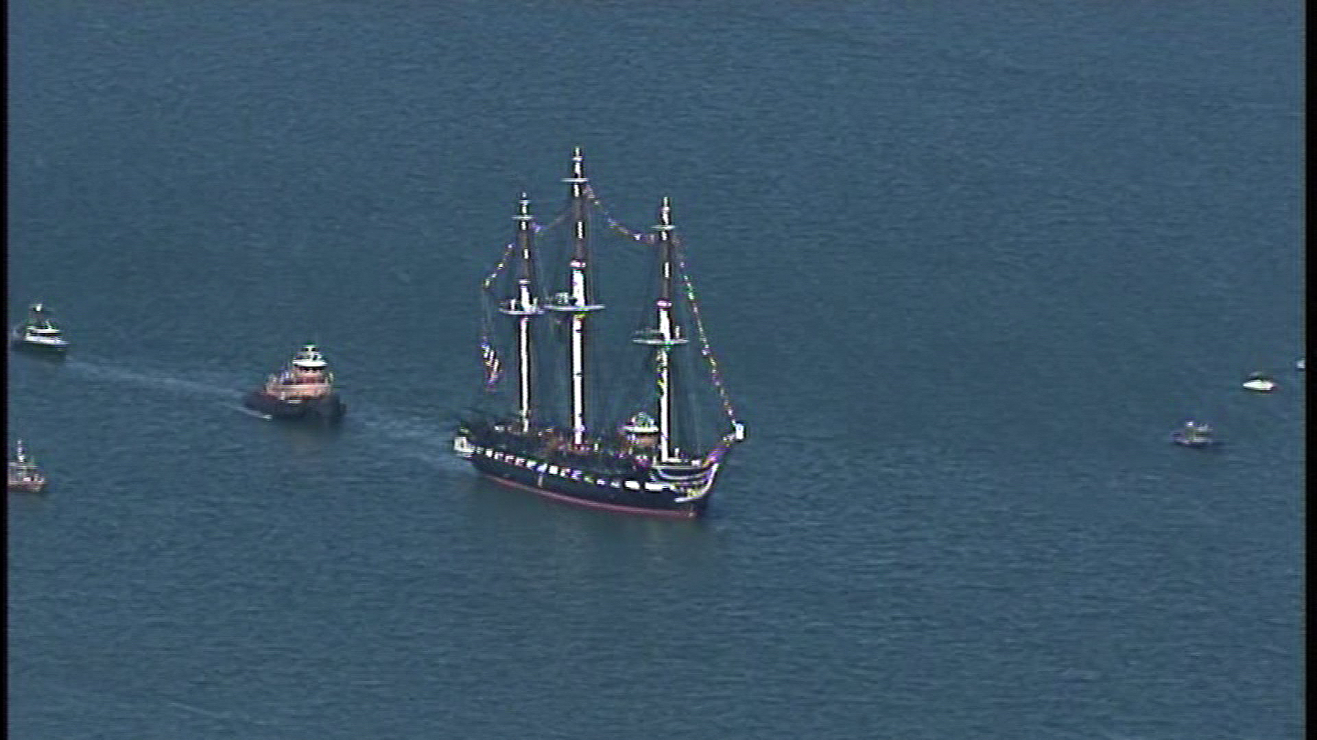 USS Constitution sails on Oct. 20, 2017