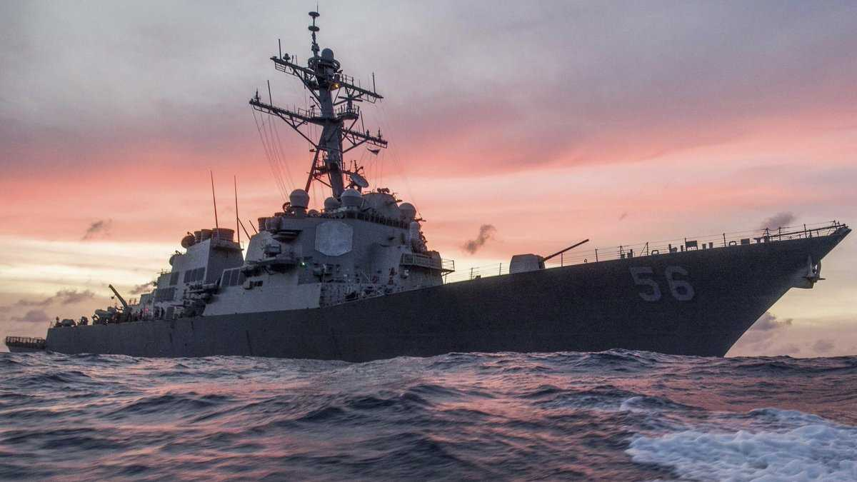 Ten sailors missing after USA warship collides with tanker near Singapore