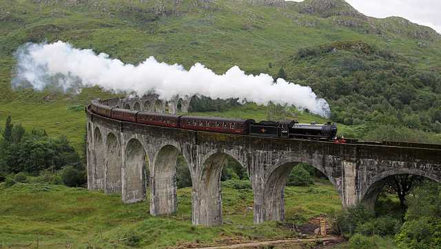 "Scotland's Glenfinnan Viaduct, which is featured in the ""Harry Potter"" movies."