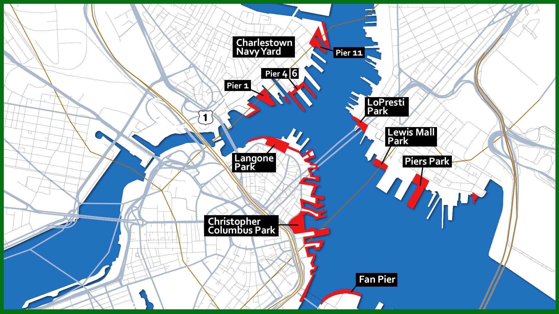 Sail Boston Parade of Sail viewing spots detail