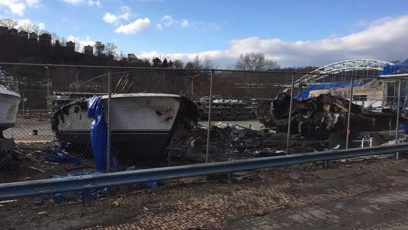 McKeesport boat fire