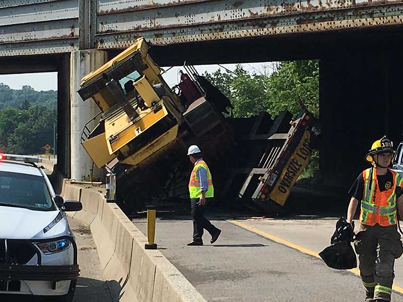PA Turnpike closed due to truck crash on Route 19 in