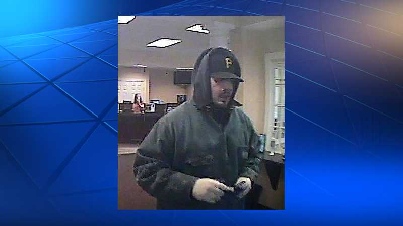 Surveillance image of Marshall Township bank robbery