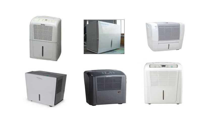 Photos of some dehumidifers involved in the recall.
