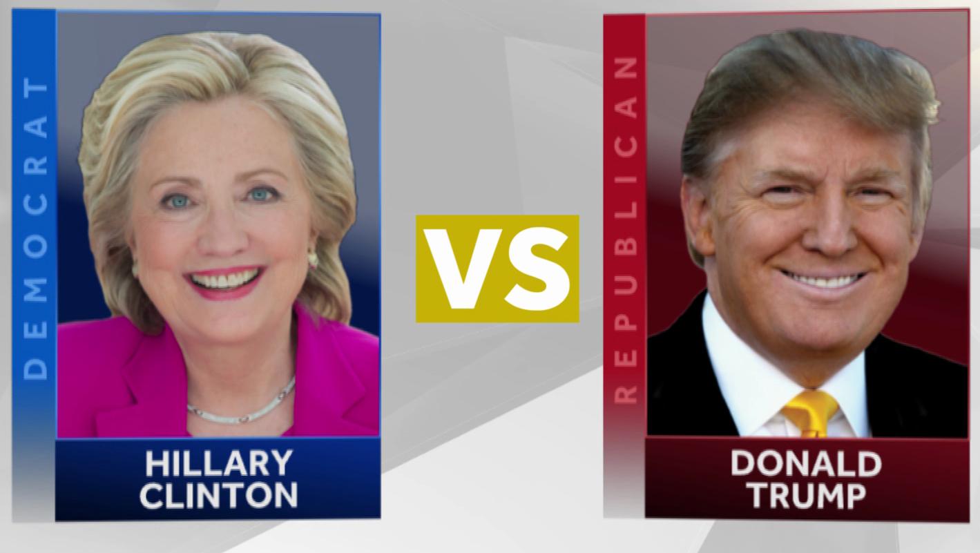 Hillary Clinton vs. Donald Trump (file image)