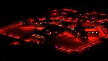 Souza-Baranowski Correctional Center at night