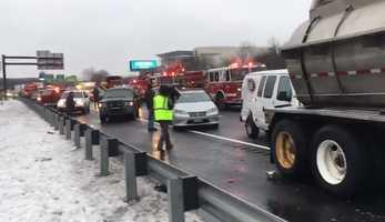 Wakefield 30-car crash