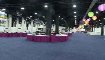 Boston Wine Expo 2017 setup
