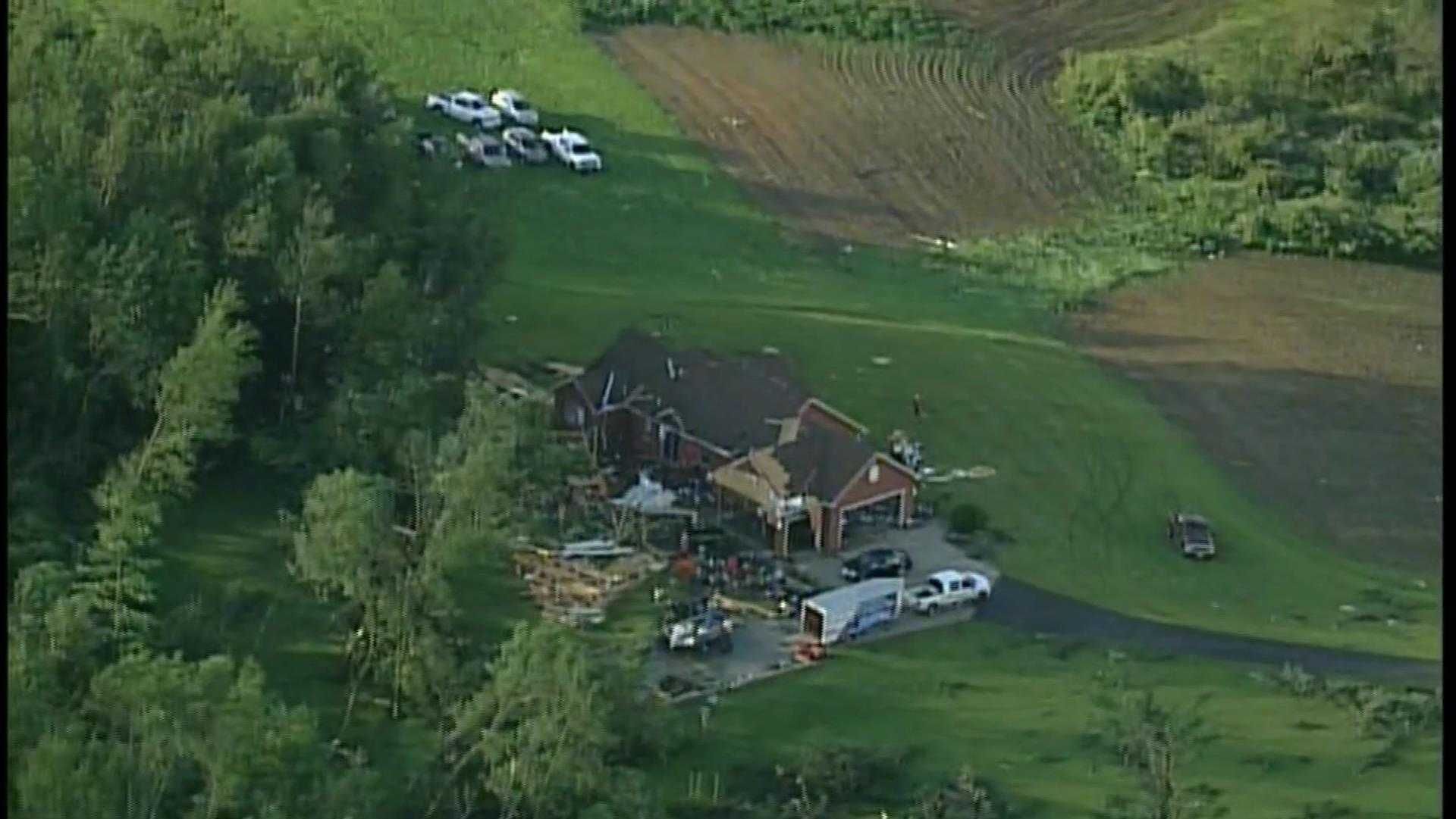 Tornado damage in Spring Valley, in Pierce County
