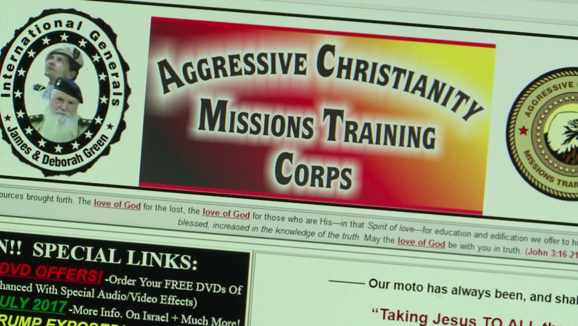 Aggressive Christianity Missions Training Corps website
