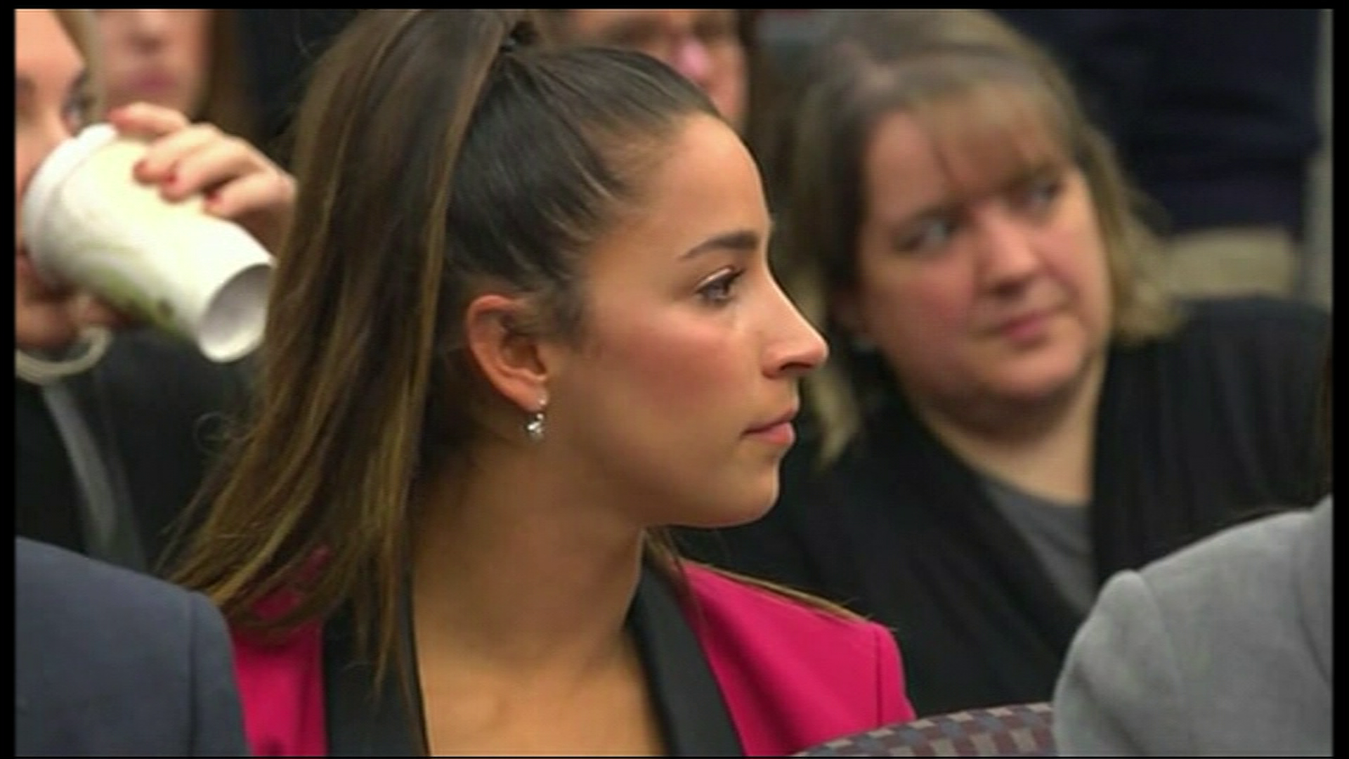 Former Olympic Gymnast Aly Raisman Gets Applause for Larry Nassar Testimony