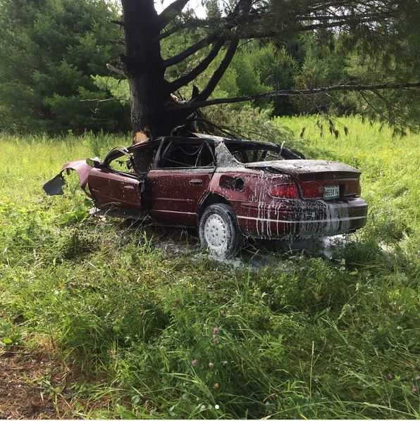 Teen rescued following fiery crash in Wade