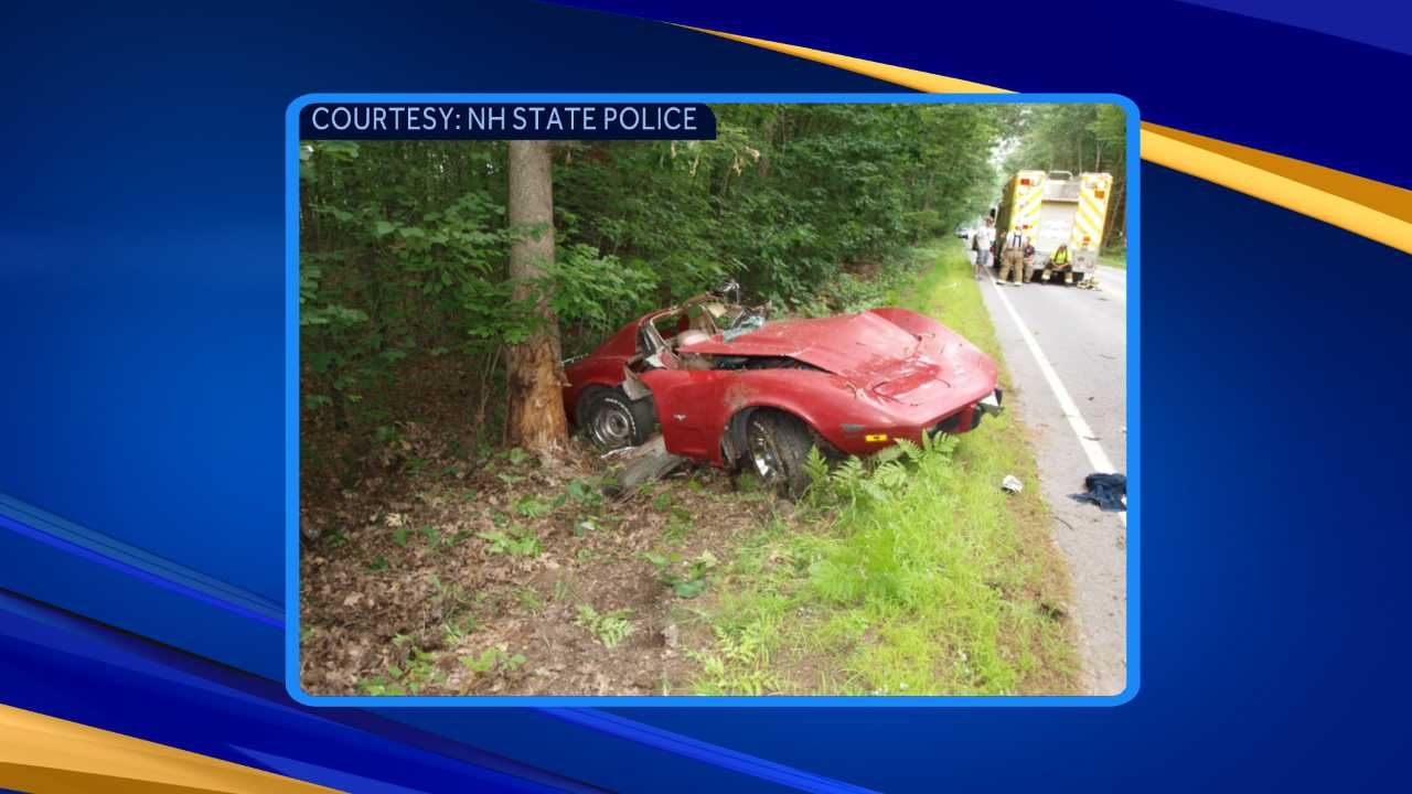 Two transported to hospital after car hits tree in Walpole