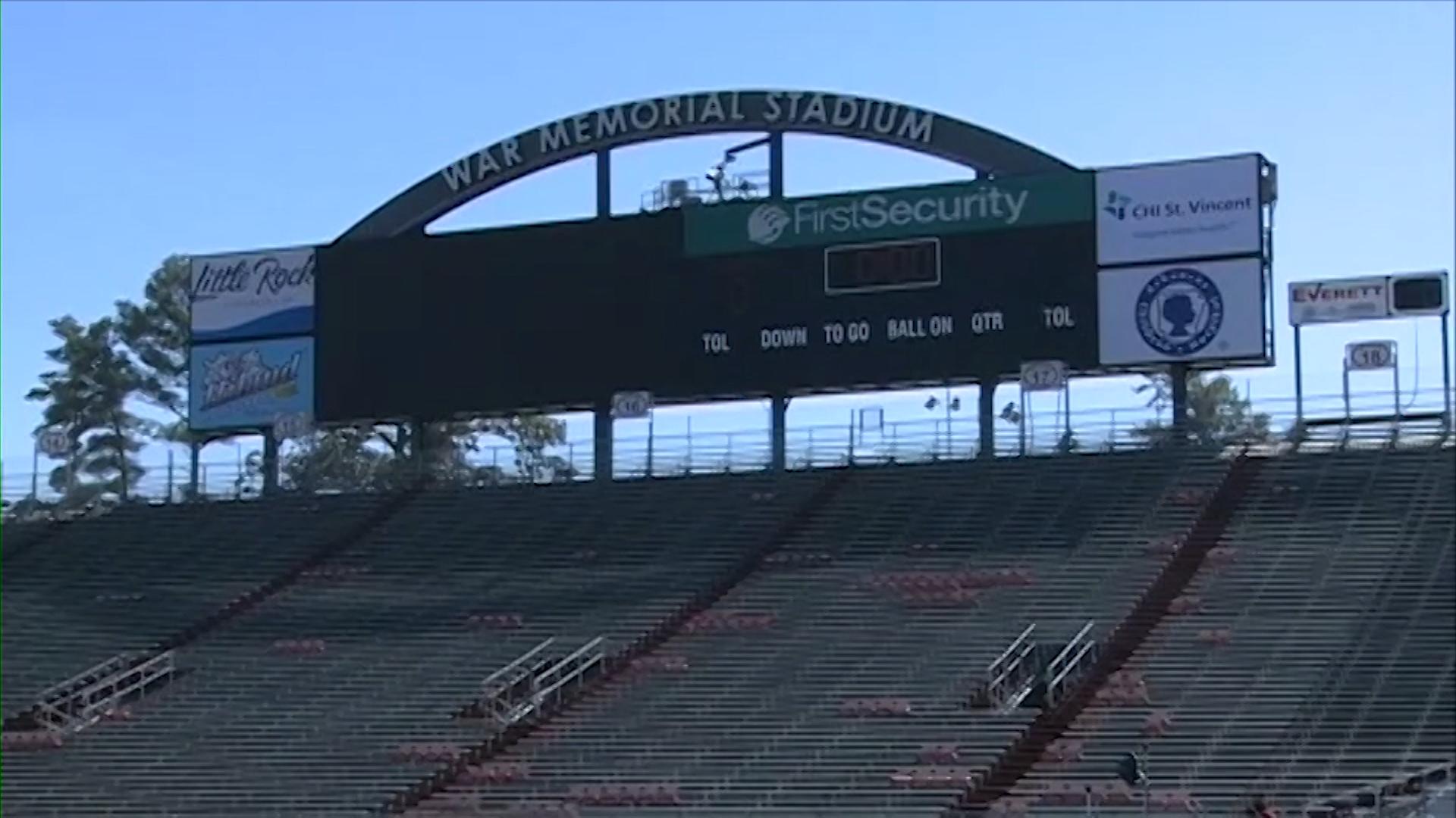 War Memorial Stadium in Little Rock