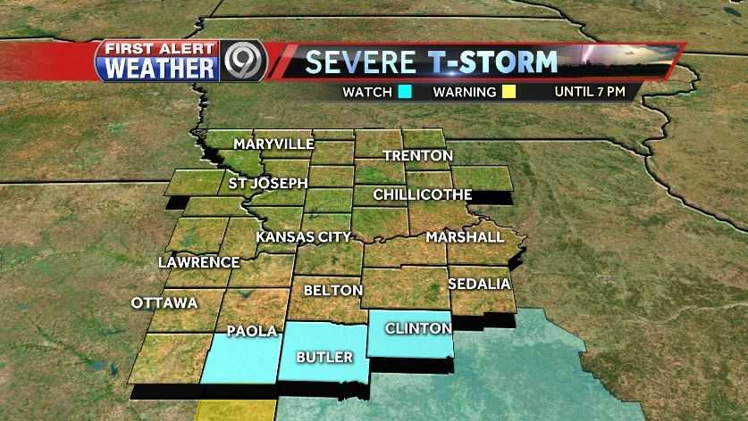 Severe thunderstorm watch, 3/9/17