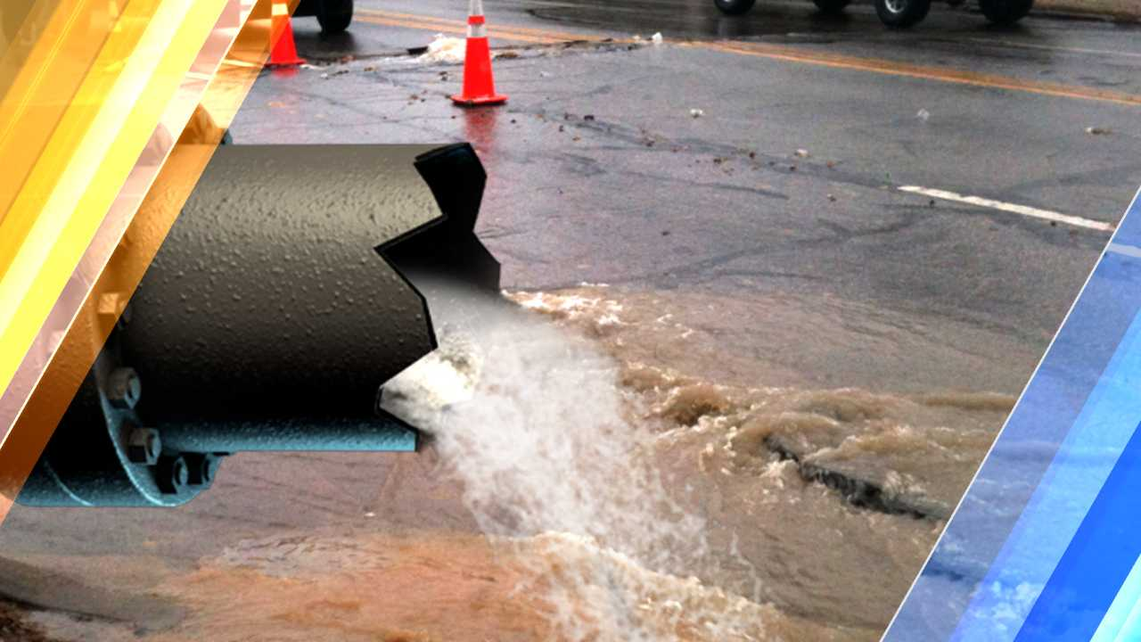 Water main break leaves Boston street covered in ice