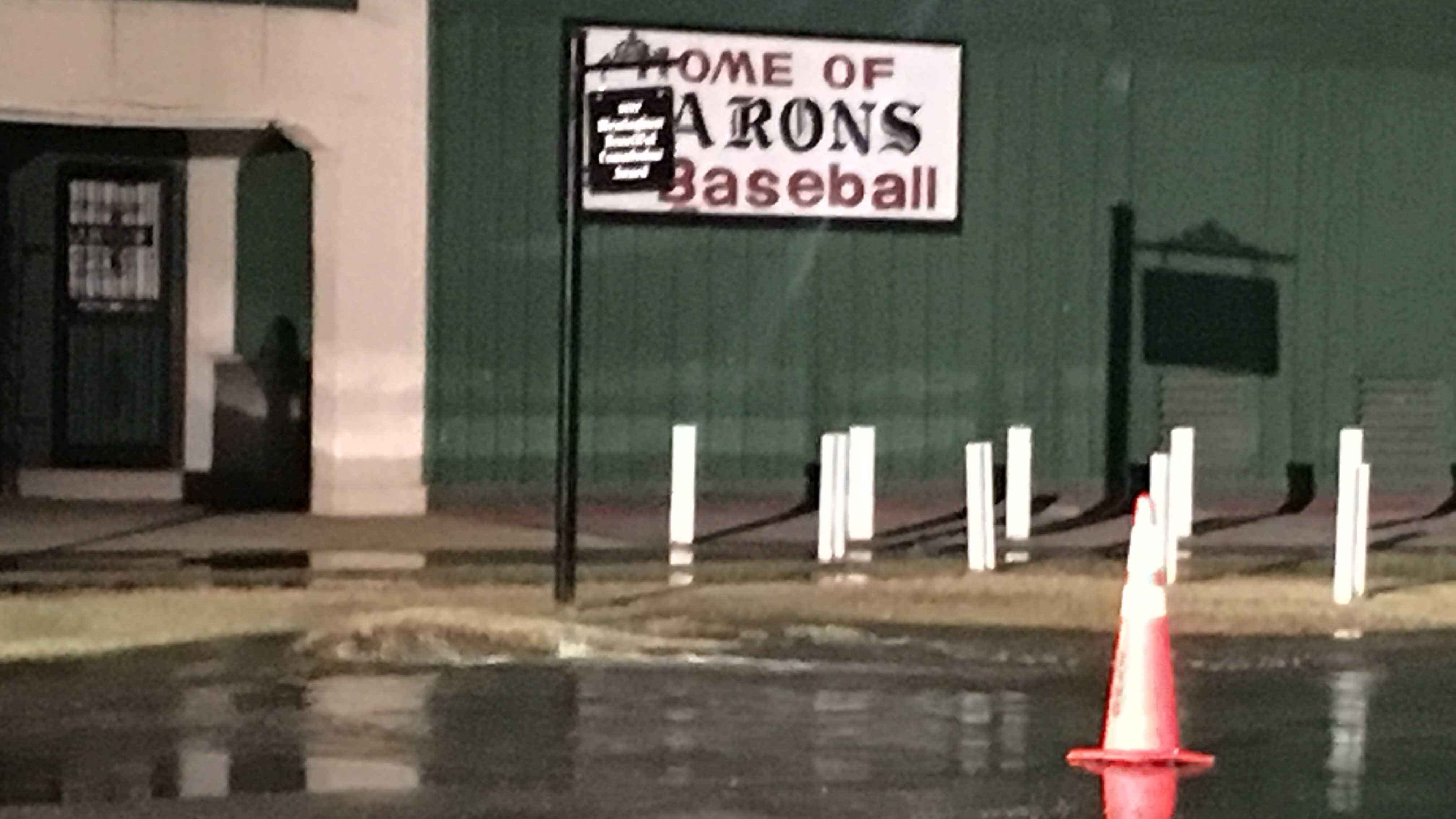 Rickwood Field water main break