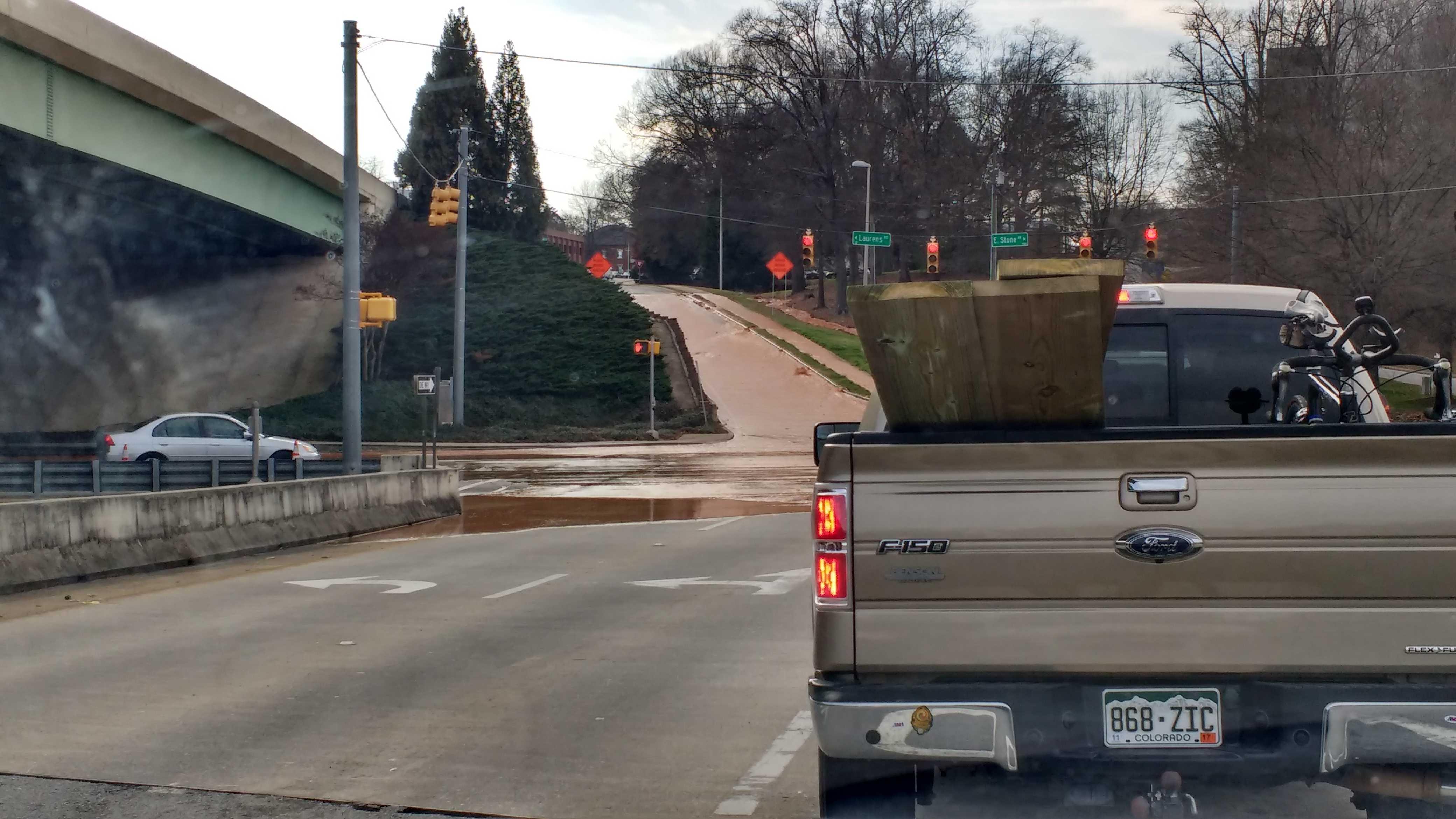 Greenville water main break