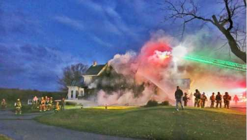 The clubhouse at Willow Springs Golf Course burned Sunday morning in the Sykesville area.