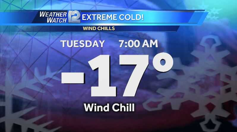 New Year to start off with risky wind chills